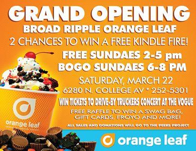 orange leaf flyer